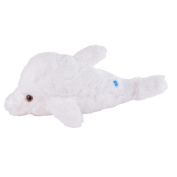 Didihou Colourful Night LED Light Stuffed Animal Toy Dolphin Glow Plush Toys Gifts for Kids 46cm