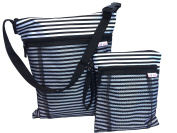 Travel Wet and Dry Bag by Tutti Bimbi - Duo Pack Waterproof Seamed Medium and Small Cloth Nappy Bags