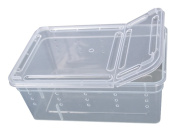 BleuMoo Transparent Plastic Box Insect Reptile Transport Breeding Feeding