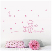 Singleluci Removable Baby Room Nursery Decor Wall Decals Stars Moon The Little Prince Wall Sticker