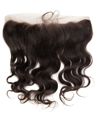 abHair 36cm Indian Remy Body Wave Virgin Human Hair Free Part 134 Full Lace Frontal Closure, Bleach Knots with Unprocessed 100% 6A Baby Hair, Full Bottom, Ear to Ear, Natural Colour