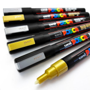 POSCA Colouring - PC-3M - Gold and Silver - Wallet of 6