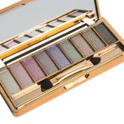 Eyeshadow, Emubody 9 Colours Shimmer Eyeshadow Eye Shadow Palette & Makeup Cosmetic Brush Set