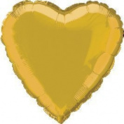 12 Mylar/Foil Balloons Lot Wedding/Party-HEART Shape Balloon 46cm Diam.