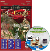 Rose Flower Glass Etching Stencil Designs (3 pack) + Free How to Etch CD