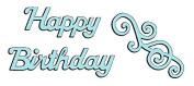 Sweet Dixie SDD111 Mini Craft Die - Happy Birthday & Swirl
