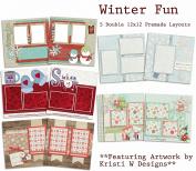 Winter Fun Scrapbook Kit - 5 Double Page Layouts