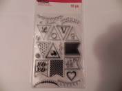 Recollections Valentine's Day Clear Stamps - Love Banners