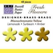 Bazzill Monocramatic Flower Brads Assortment - Yellows