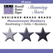 Bazzill Monocramatic Star Brads Assortment - Blackberry