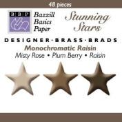 Bazzill Monocramatic Star Brads Assortment - Raisin