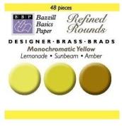 Bazzill Monocramatic Brads Assortment - Yellows