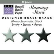 Bazzill Monocramatic Star Brads Assortment - Blacks