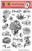 HOTP Clear Stamps - Floral Greetings - Silicone Stamps HOTP1211