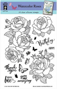 HOTP Clear Stamps - Watercolour Roses - Silicone Stamps HOTP1228