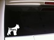 Schnauzer Mom 15cm Vinyl Sticker DecalP82 Animals Pets Dogs Puppies Love K9 Canine Love