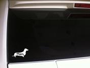 Dachshund Mom 15cm Vinyl Sticker Decal Wall Car LaptopP79 Animals Pets Dogs Puppies Love K9 Canine