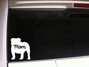 English Bull Dog Mom 5.1cm Vinyl Sticker DecalP75 Animals K9 Pets Wall Car Dogs Puppies Love Canine