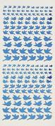 Dazzles Blue Jewel Bird Stickers HOTP2586