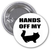 Hands Off My Pussy Woman's March 2 PACK of 7.6cm Buttons Flare by Debbie's Designs