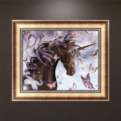 40x32CM Horse 5D Diamond Embroidery Painting DIY Cross Stitch Kit Home Wall Decor