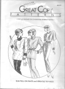 Great Copy Patterns Sewing Pattern #605 - Slim Pull-On Pants and Versatile Top