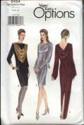 Vogue Sewing Pattern 9154 Misses Size 6-8-10 Easy Formal Evening Long Short Dress Gown