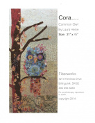 Cora the Common Owl Collage Wall Hanging Quilt Pattern by Fiberworks