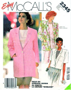 McCall's # 2345 Misses' Jacket Sewing Pattern Size