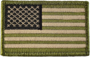 Tactical USA Flag Patch - Multitan 5.1cm x 7.6cm Touch Fastener Hook and Loop Backing - By Hello Bangkok
