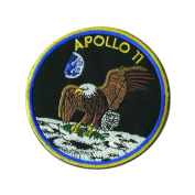 Nasa Apollo 11 Eleven 7.6cm Logo Sew Ironed On Badge Embroidery Applique Patch