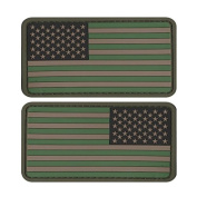 US MILITARY FLAG UNIFORM PATCH PVC RUBBER LOT OF 2 MULTI-CAMOUFLAGE