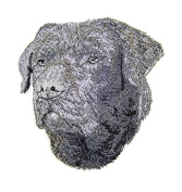 Amazing Dog Faces[Labrador Retriever Black] Embroidery Iron On/Sew patch [10cm x 9.4cm ][Made in USA]