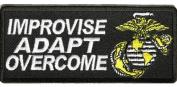 U.S. MARINE CORPS USMC IMPROVISE ADAPT OVERCOME PATCH - Colour - Veteran Owned Business.