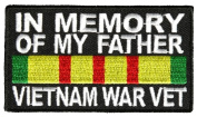 IN MEMORY OF MY FATHER VIETNAM WAR VET PATCH - Colour - Veteran Owned Business.