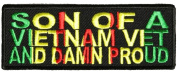 SON OF A VIETNAM VET AND DAMN PROUD PATCH - Colour - Veteran Owned Business.