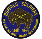 BUFFALO SOLDIERS ROUND PATCH - Colour - Veteran Owned Business.