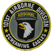 101ST AIRBORNE DIVISION SCREAMING EAGLES ROUND PATCH - Colour - Veteran Owned Business.