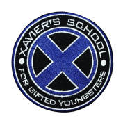"X-Men Logo ""Xavier's School for Gifted Youngsters"" Marvel Iron-On Patch Applique"