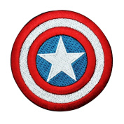 Captain America Shield Iron-On Patch DIY Hero Craft Apparel Accessory Applique