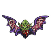 Get Freaky Bat Monster Patch Embroidered Iron On Applique