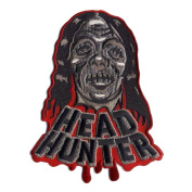 Head Hunter Zombie Monster Patch Embroidered Iron On Applique