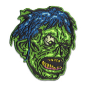 Shock Monster Zombie Head Patch Embroidered Iron On Applique