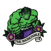 "Hulk Fan ""The Incredible"" Iron-On Patch Marvel Superhero Craft Apparel Applique"