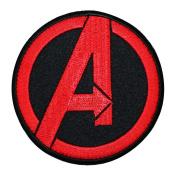 Marvel Avengers Logo Iron-On Patch Superhero Team DIY Costume Accessory Applique