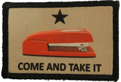 "Red Stapler ""Come and Take It"" Morale Patch. Perfect for your Tactical Military Army Gear, Backpack, Operator Baseball Cap, Plate Carrier or Vest. 5.1cm x 7.6cm Hook and Loop Patch. Made in the USA"