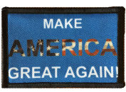 Make America Great Again Morale Patch. Perfect for your Tactical Military Army Gear, Backpack, Operator Baseball Cap, Plate Carrier or Vest. 5.1cm x 7.6cm Hook and Loop Patch. Made in the USA