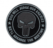 Hook Fastener Acu Punisher God Will Judge Our Enemies Patch
