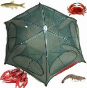 Fishing Bait Net Trap Cast Dip Cage Crab Fish Minnow Crawdad Shrimp Foldable NEW