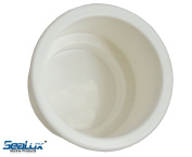 SeaLux UV stablized Recessed WHITE Plastic Drink Cup Holder replace insert for Marine Boat Car Van no drain